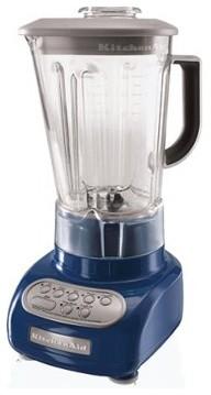 Kitchen Aid 5 Speed Blender Blue Willow Modern