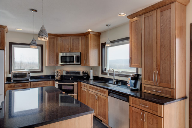 Medallion Cabinets, Shaker Style Door, Cherry Wood - Craftsman - other ...