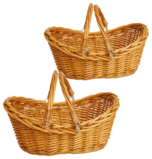 Wald Imports Wald Imports Brown Willow   Decorative Storage Basket