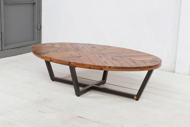 Duke oval coffee table contemporary coffee tables for Contemporary oval coffee tables