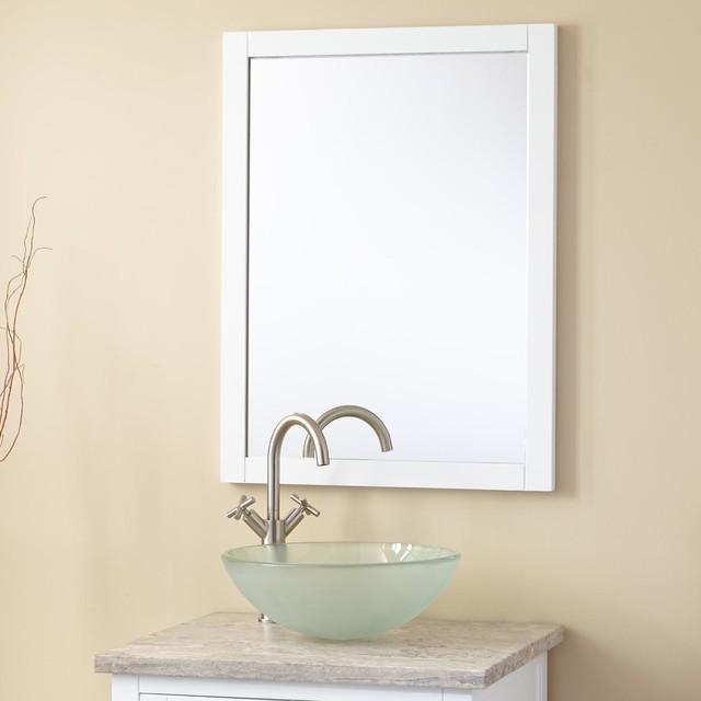 24 quot everett vanity mirror modern bathroom mirrors by