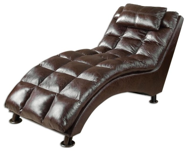 Uttermost toren chaise lounge 23225 contemporary for Chaise longue tours