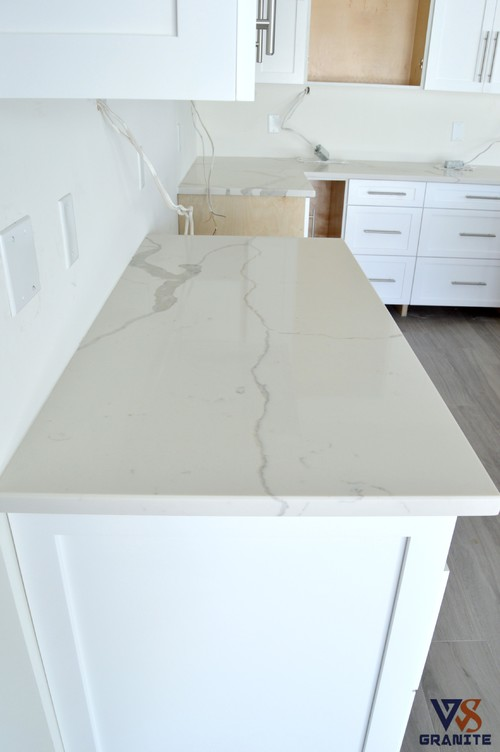Calacatta Classique Quartz From MSI Kitchen