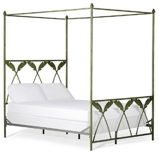 Iron canopy bed corsican 1043634 palm leaf tropical for Tropical canopy bed