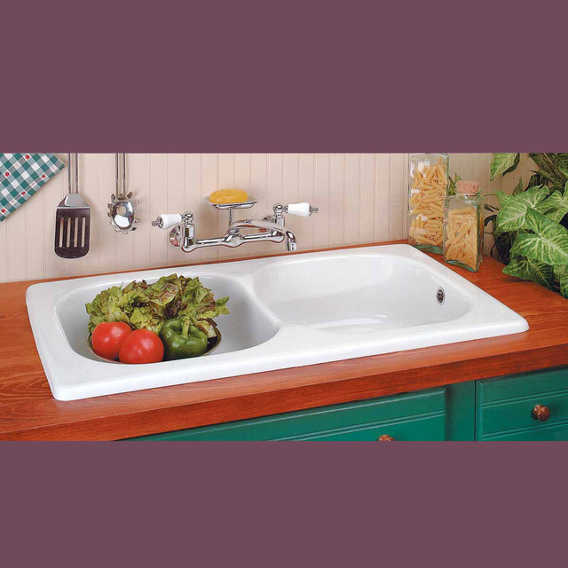 Kitchen Sinks White Porcelain Kitchen Sink Cesame Italian 18938 ...