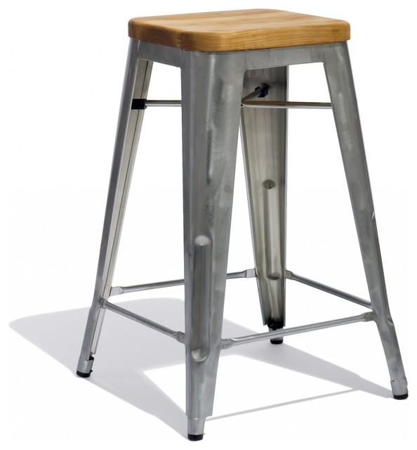 Marais counter stool with a wood seat industrial bar stools and counter stools - Marais counter stool ...