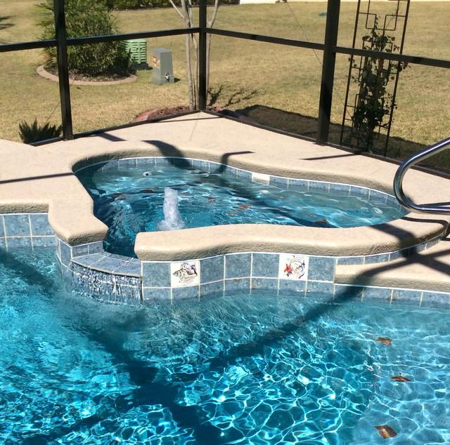 Swimming Pool Tile Tropical Kansas City By Payne