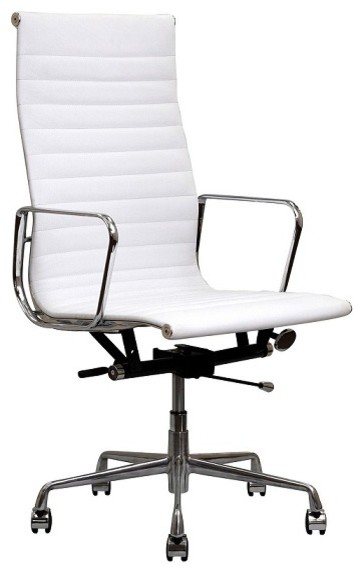 grain leather aluminum high office chair contemporary office chairs