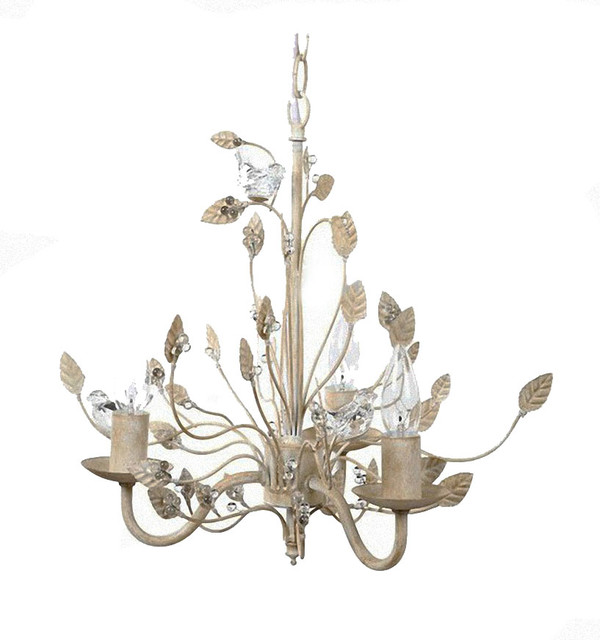 Yvette Crystal Chandelier: Country Antique Metal And Crystal Chandelier 13011007