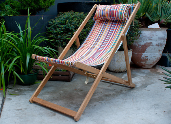 French Canvas Deck Chair Traditional Outdoor Folding