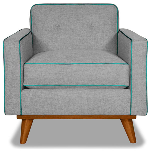 Clinton Chair Mountain Grey/Ocean Blue
