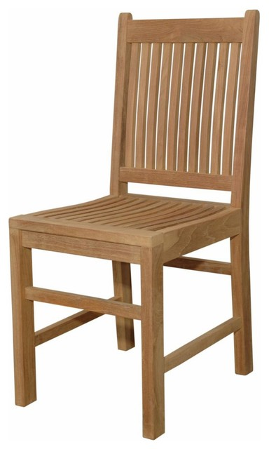 Anderson Teak Saratoga Teak Patio Dining Chair Modern Outdoor Dining Chairs