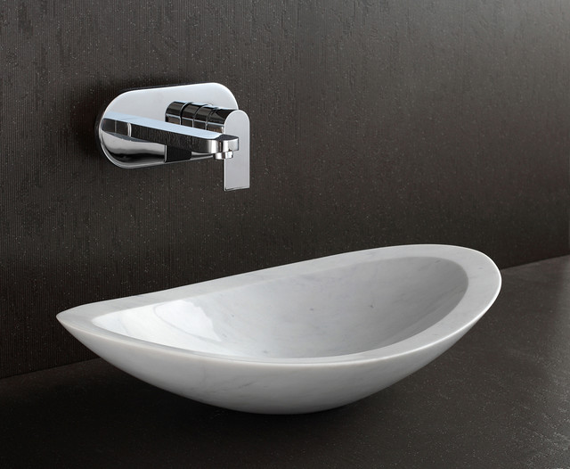 AZULEY Luxury Designer Counter Top Basin Designer Bathrooms. The Cube Formation Can Be Set Against A Wall With A Top Mounted