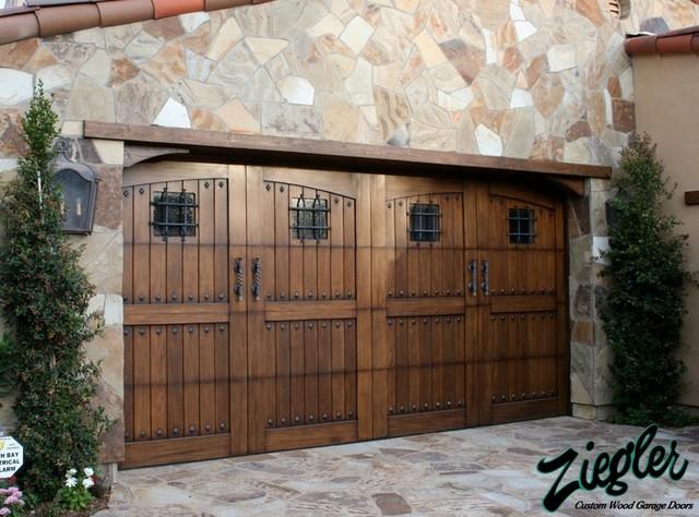 Tuscan Garage Doors Eclectic Garage Doors And Openers