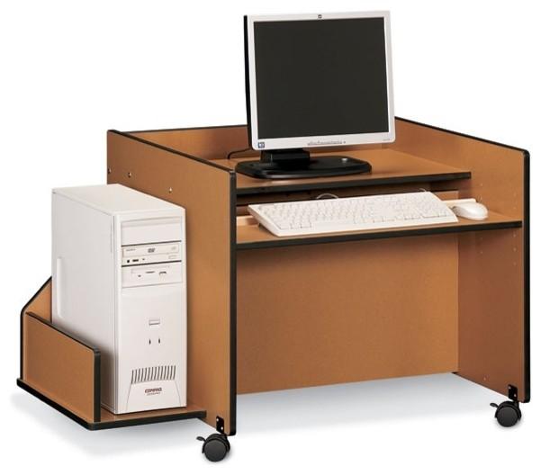 Sproutz Kid's Single Computer Work Station (Caramel) - Contemporary - Kids Desks And Desk Sets ...