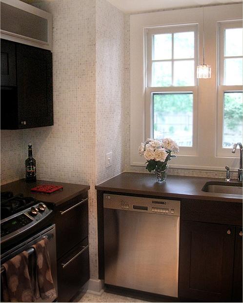 kitchen backsplash and floor eclectic kitchen