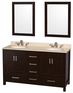 Sheffield 60 Double Bathroom Vanity By Wyndham Collection