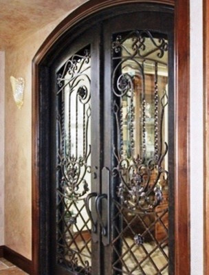 Wrought Iron Front Entry Door Double Custom Ornamental