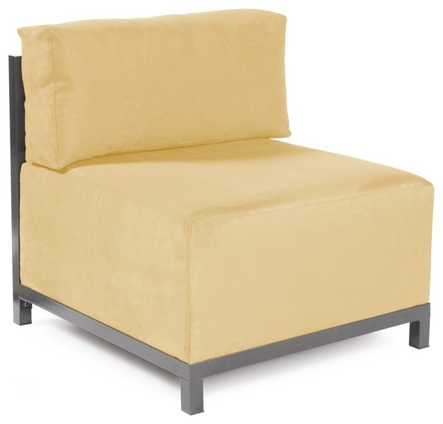 Microsuede Chamois Axis Chair Slipcover Contemporary Living Room Chairs
