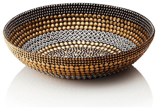 Black Silver Gold Small Bowl Decor Eclectic Decorative Bowls By Bliss Home amp Design