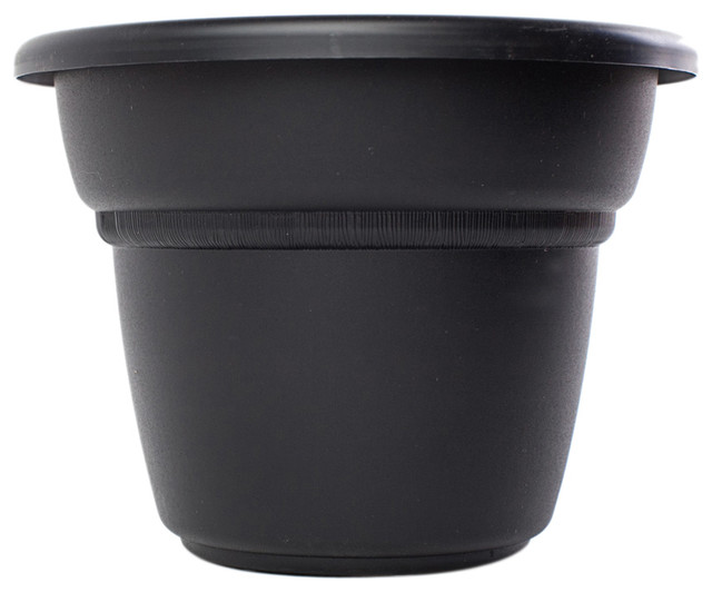 bloem 24in planter black traditional plant pots planters by ergode