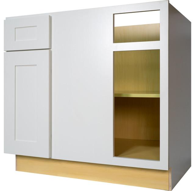 White shaker blind corner base kitchen cabinet for 36 corner cabinet