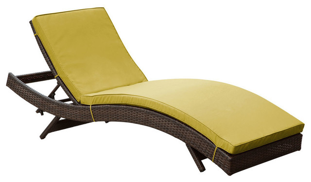 Modway peer chaise in brown peridot contemporary for Chaise longue tours