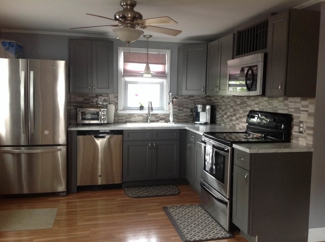 Grey Shaker Kitchen Cabinets - Modern - Kitchen - Philadelphia - by RTA Cabinet Store