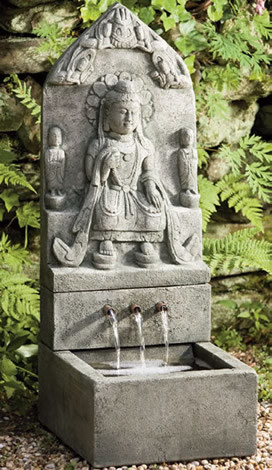Cast stone outdoor fountains asiatique fontaine et for Fontaine asiatique jardin