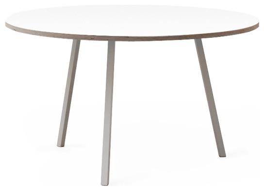 loop stand runder tisch wei 105 cm hay design modern. Black Bedroom Furniture Sets. Home Design Ideas