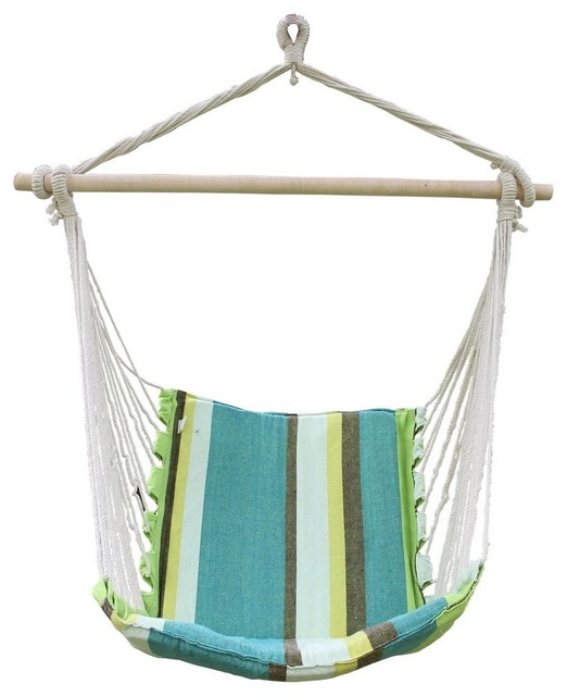 Cotton fabric canvas hammock chair contemporary for Fabric hammock chair