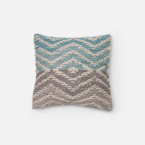 Gray Throw Pillows For Bed : Blue and Grey 18-Inch Decorative Pillow - Modern - Bed Pillows