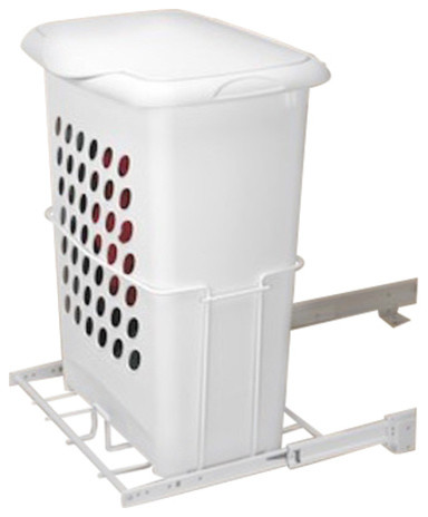 Rev a shelf hprv 1925 s pullout hamper w lid contemporary hampers by woodworker - Modern hamper with lid ...