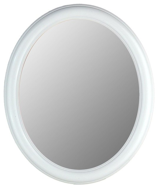 Beveled Glass Decorative Oval Accent Mirror w - Contemporary - Bathroom Mirrors - by ShopLadder