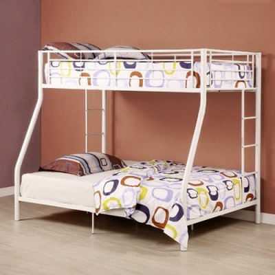 Sunrise Metal Twin Over Twin Bunk Bed In White Finish
