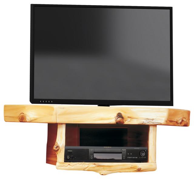 Cedar Corner TV Shelf With DVD/DVR Shelf - Rustic - Entertainment Centers And Tv Stands - by ...