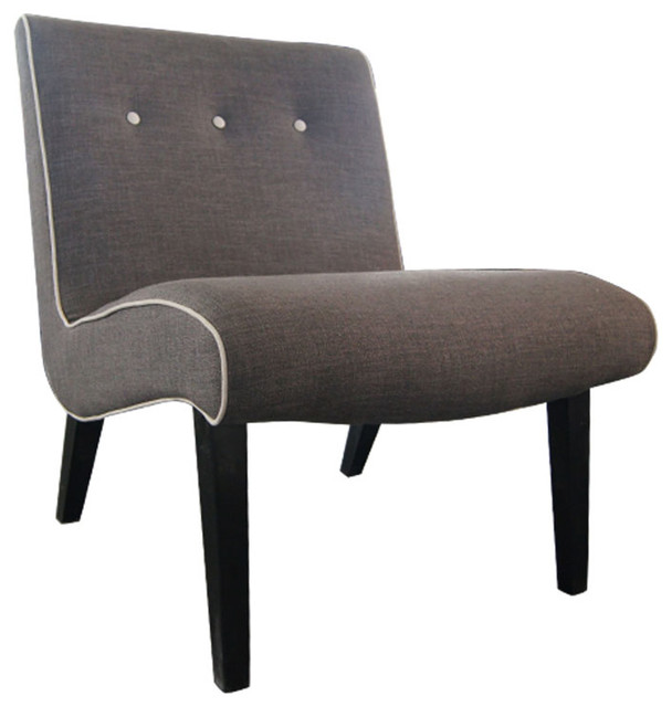 Arvin Accent Chair Light Grey Contemporary Armchairs