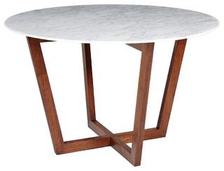 italian carrara marble and american walnut furniture
