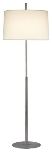 Lite Source LS 81830 Floor Lamp With White Fabric Shades Chrome Finish