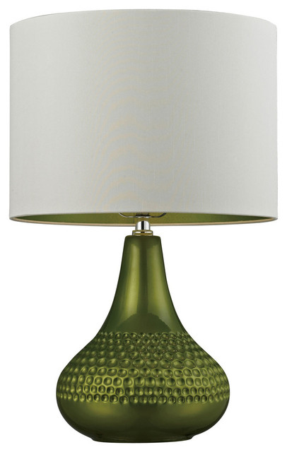 23 Ceramic Table Lamp In Bright Green Transitional Table Lamps By Elk Group International