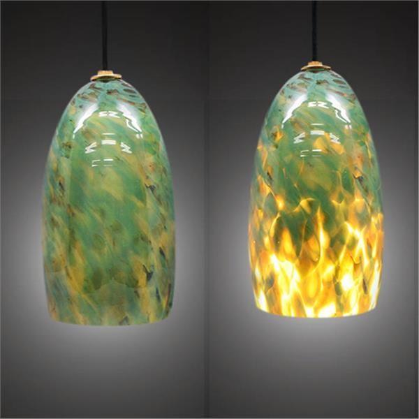 aventurine blown glass pendant light contemporary pendant lighting. Black Bedroom Furniture Sets. Home Design Ideas