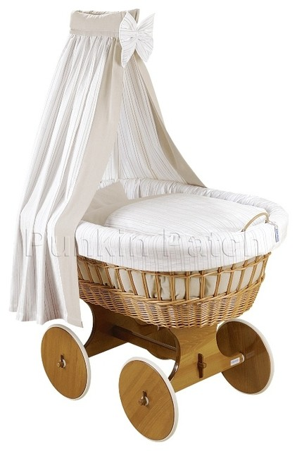 Carmine drape crib contemporary cots cribs and cot for Drape stand for crib