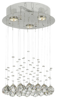 Crystal Ceiling Light Pendant Chandelier Rain Drop