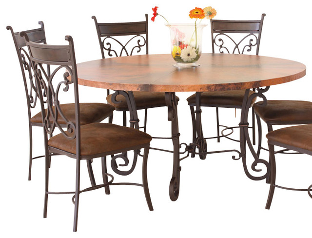 28 Copper Kitchen Table Set Finish Dining  sc 1 st  ICE-UFT & Copper Dining Set - Dining room ideas