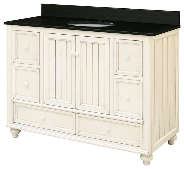 Bristol beach assembled vanity 2 doors 2 small drawers - Bathroom vanity with bottom drawer ...