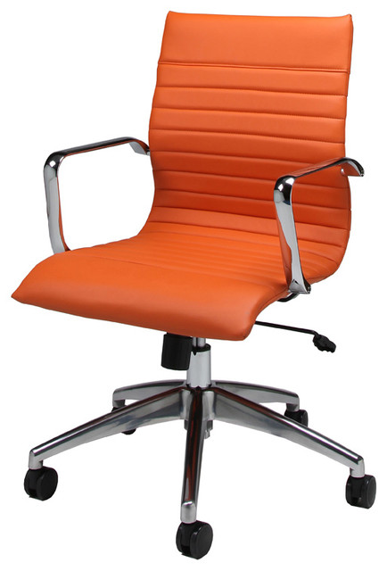 Janette Office Chair JN 164 Orange Contemporary Office Chairs