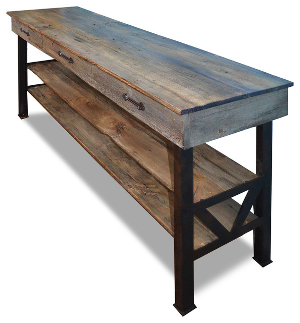 Reclaimed Wood Buffet Cabinet Industrial Buffets And