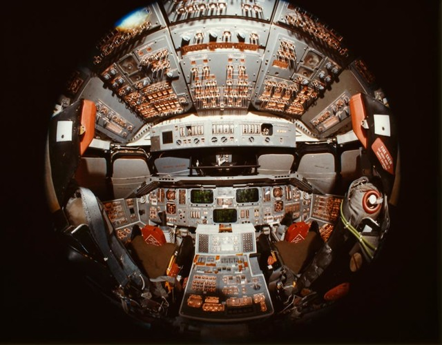 Shuttle cockpit wall mural contemporary wallpaper by for Cockpit wall mural