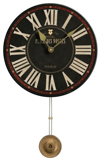 Black Place Des Vosges Pendulum Clock Modern Floor And