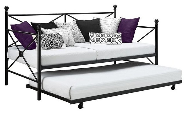 Dhp Lubin Daybed And Trundle Black Traditional Daybeds By